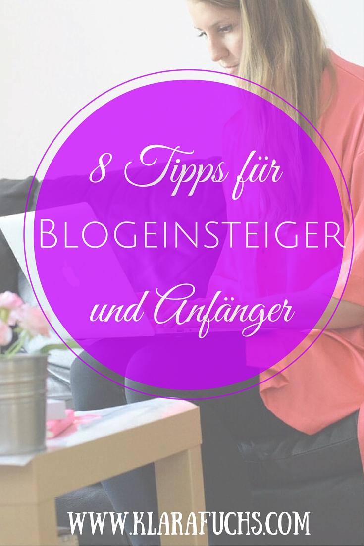Bloggen für Anfänger - 8 Blogtipps für Bloganfänger
