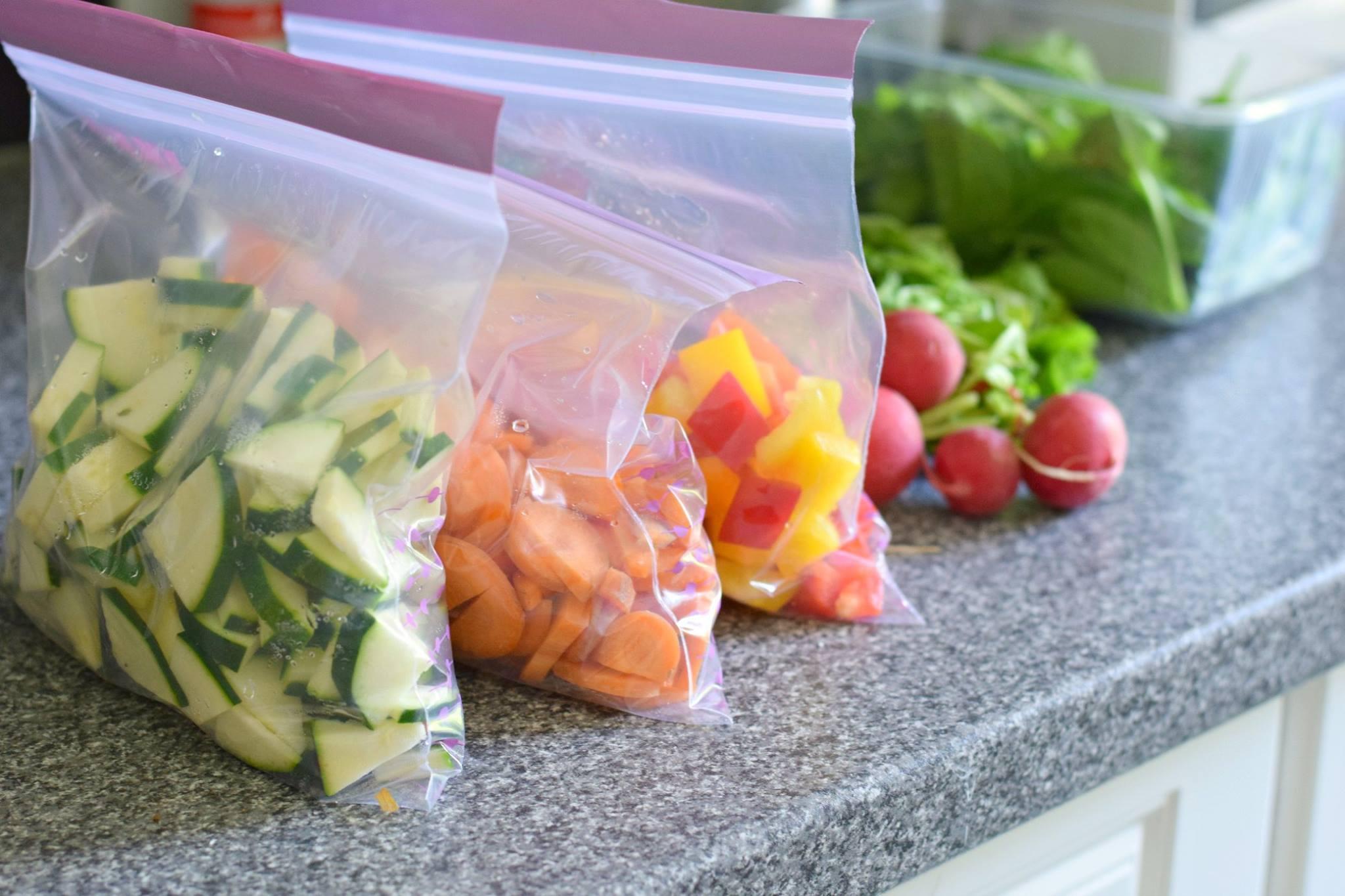 Meal Prep: vorgeschnittenes Gemüse zum Einfrieren