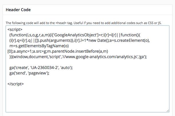 So sieht der Tracking-Code für Google Analytics aus.