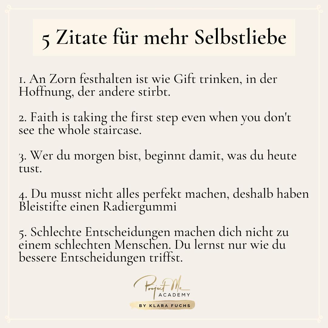 5 Zitate Fur Mehr Selbstliebe Klara Fuchs