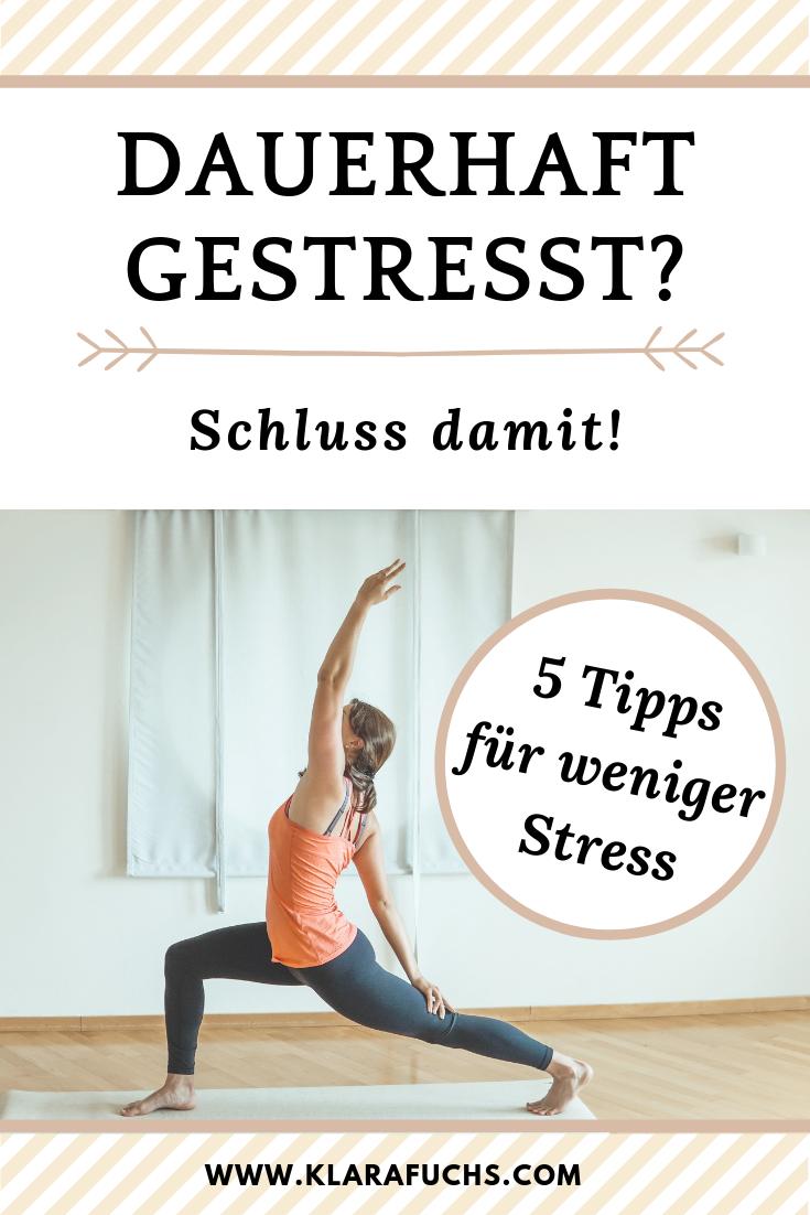 Dauerhaft gestresst? Schluss damit! 5 Tipps für weniger Stress