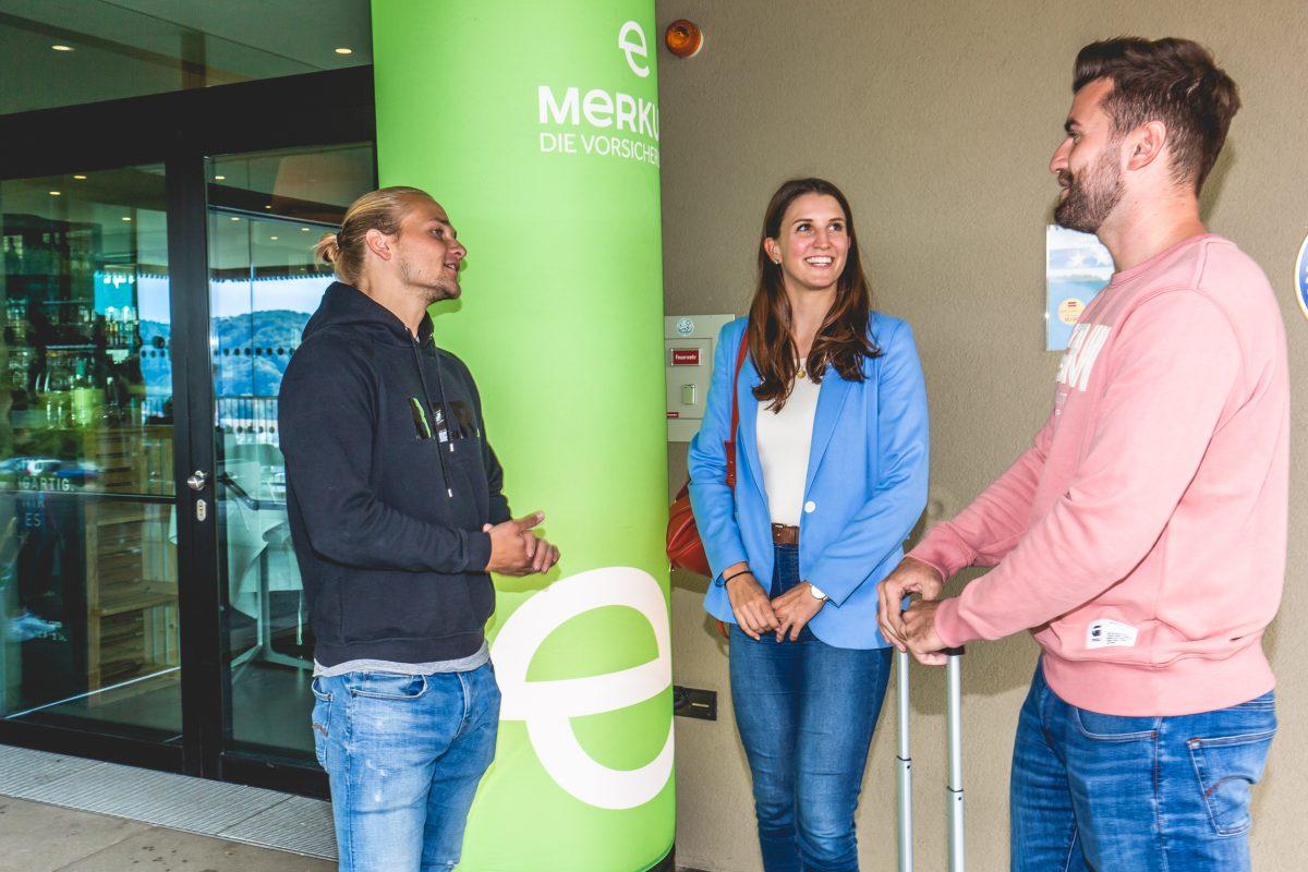 Klara Fuchs am fit4life Event der Merkur Versicherung