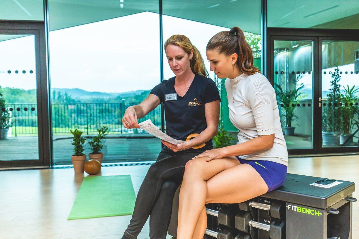 Körperanalyse im Rahmen des fit4life Vorsorgeprogramms der Merkur Versicherung