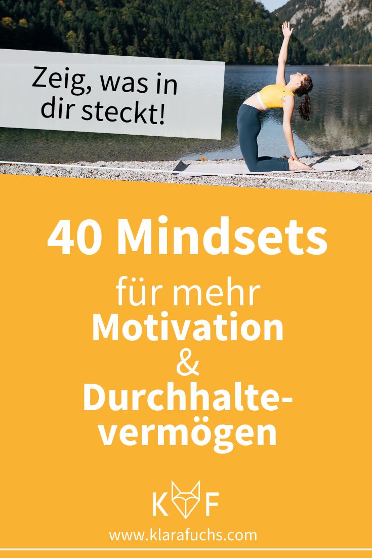 40 Mindsets für mehr Motivation & Durchhaltevermögen