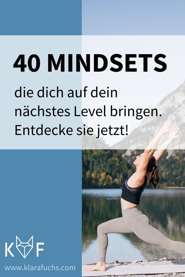 40 Mindsets die dich auf dein nächstes Level bringen