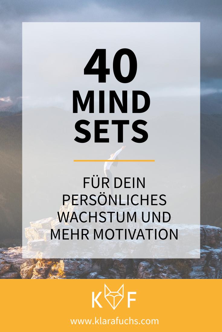 40 Mindsets für dein persönliches Wachstum und mehr Motivation