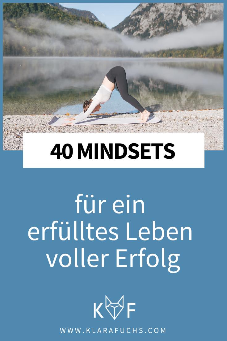 40 Mindsets für ein erfülltes Leben voller Erfolg