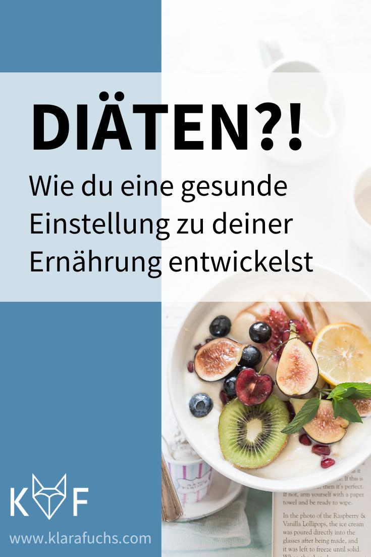 Pinterest Grafik: Einstellung zu Ernährung ändern