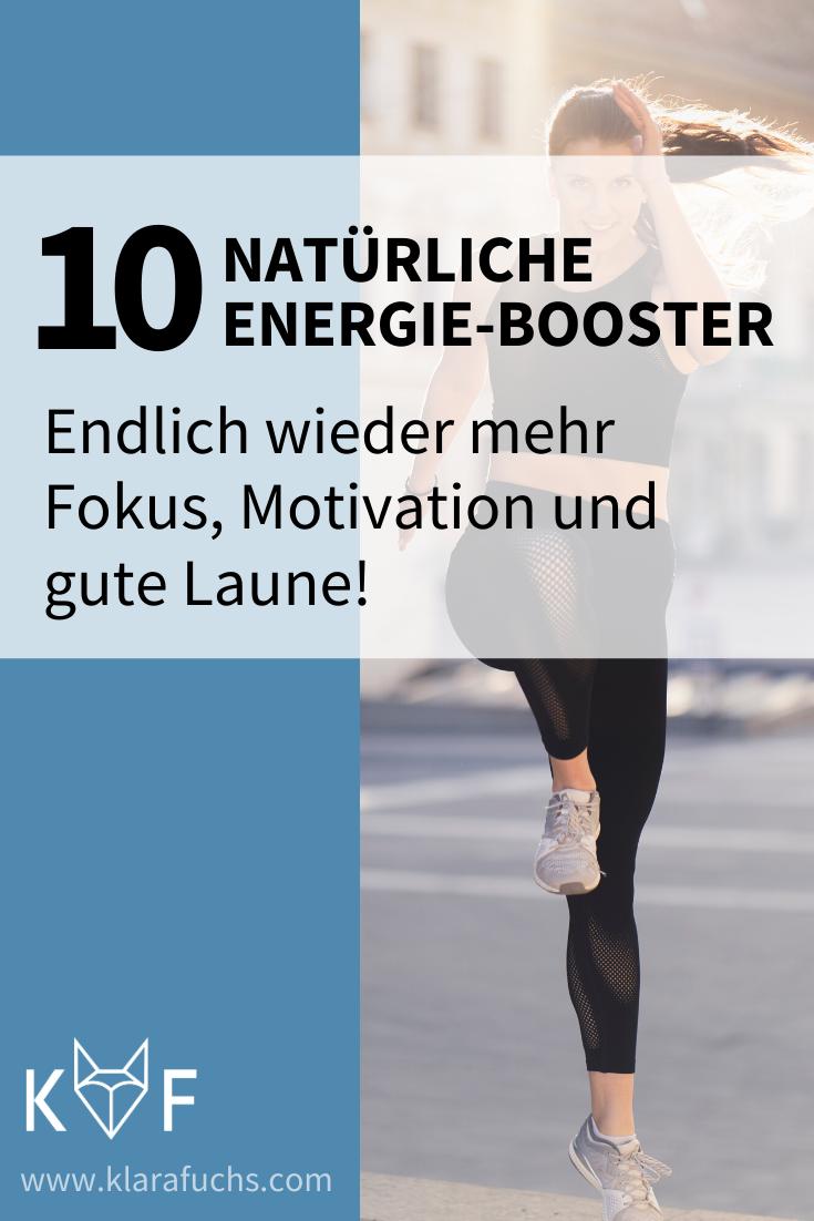 Pinterest Grafik: 10 Tipps für mehr Energie
