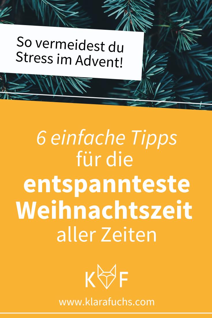 Klara Fuchs: 6 Tipps für eine stressfreie Weihnachtszeit