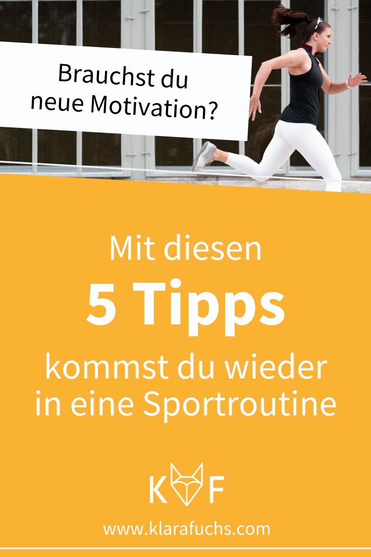 Mit diesen 5 Tipps kommst du wieder in eine Sportroutine