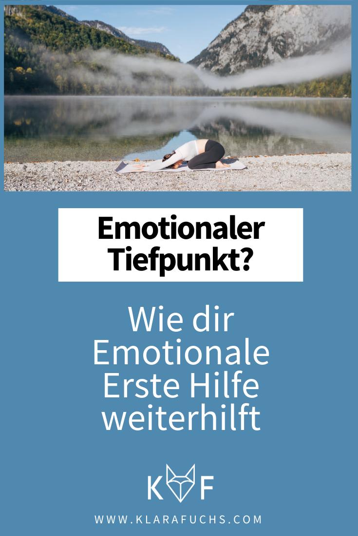Pinterest Grafik: 6 Methoden für Emotionale Erste Hilfe