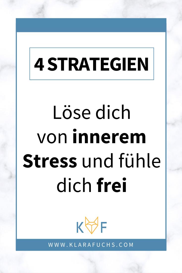 PInterest Grafik: 6 Strategien für weniger Stress